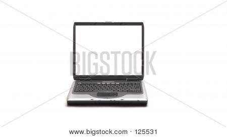 Laptop On White Background poster