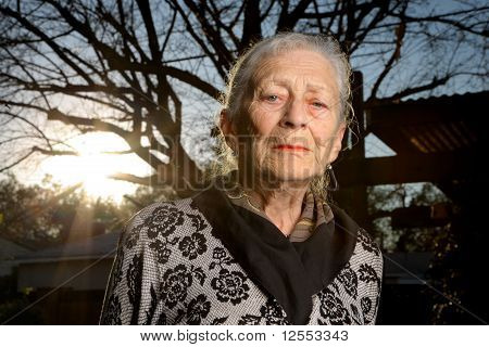 Portrait Of A Senior Woman Outdoors
