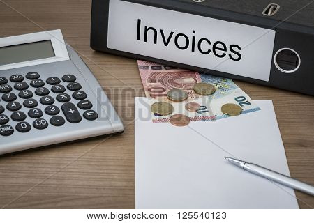 Invoices Written On A Binder