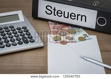 Steuern Written On A Binder