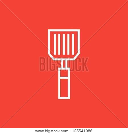 Kitchen spatula line icon.