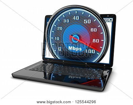 Laptop and internet speed (done in 3d)