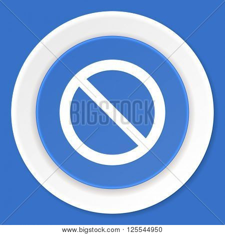access denied blue flat design modern web icon