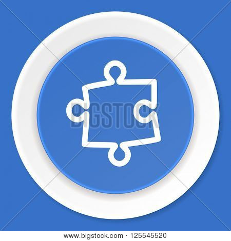 puzzle blue flat design modern web icon