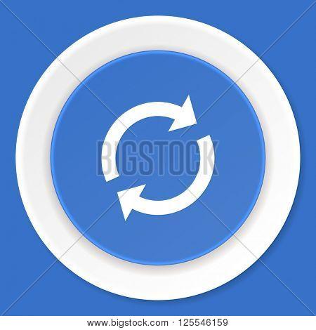 reload blue flat design modern web icon