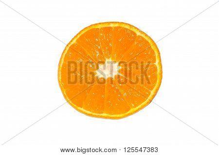 Orange Close Up On White