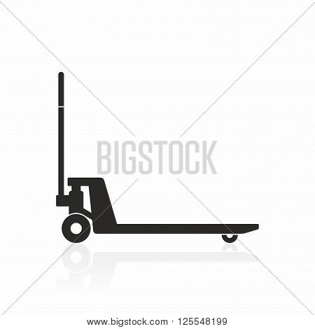 Hand pallet truck icon. A tool used to lift and move pallets.