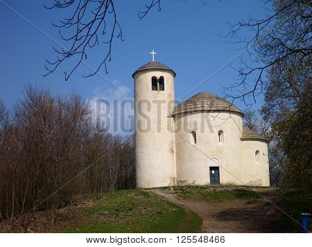 Chappel Of St George At The Top Of Mountain Rip In Czech Republic