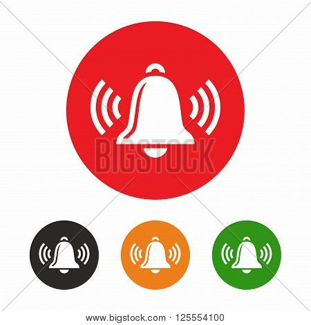 Ringing bell icon set, symbol for bell, reminder and notifiaction