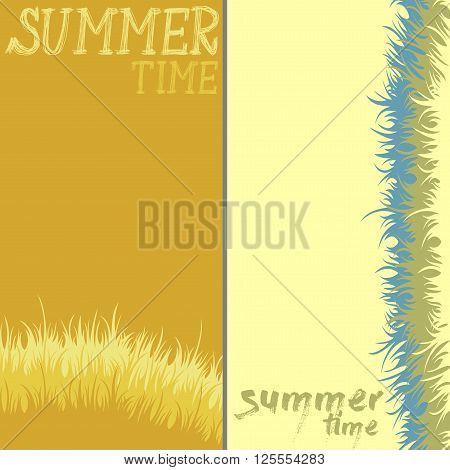 abstract background, divided into two parts and the words Summer Time