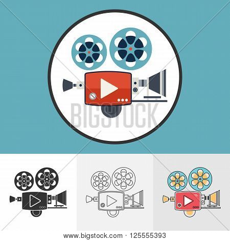 Video Camera Icons Set