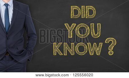 Did You Know on Chalkboard Working Conceptual Business Concept