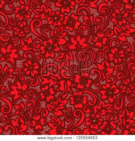 Ornate Floral Seamless Texture.