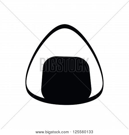 Japanese rice bun (called 'Onigiri') doodle drawing style vector isolated on white background