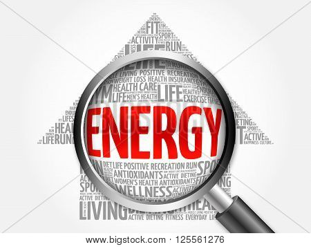 Energy Arrow Word Cloud