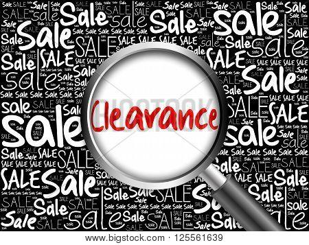 Clearance Sale Word Cloud