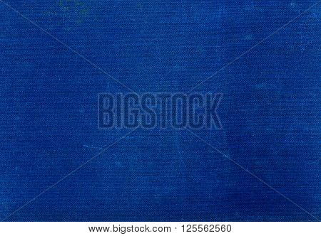 Grungy Blue Textile Surface With Scratches.