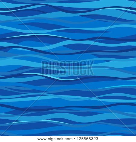 Blue Seamless Sea Background.