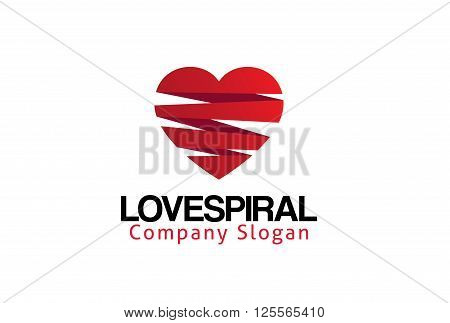 Love Spiral Creative And Symbolic Logo Design Illustration
