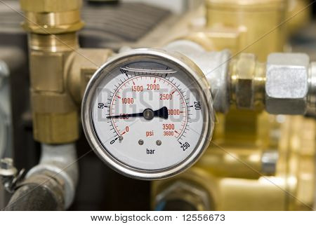 manometer of a high pressure
