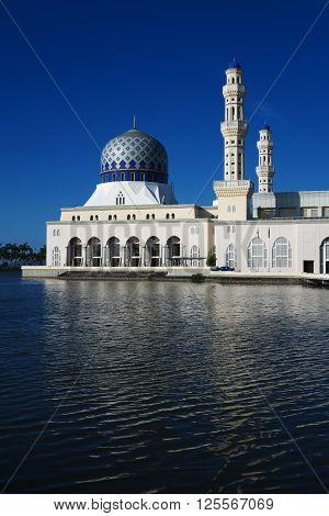 The Kota Kinabalu City Mosque in Kota Kinabalu, Sabah, Malaysia.