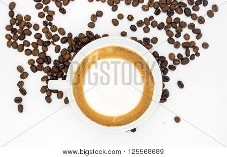 Latte Art Coffee And Seed