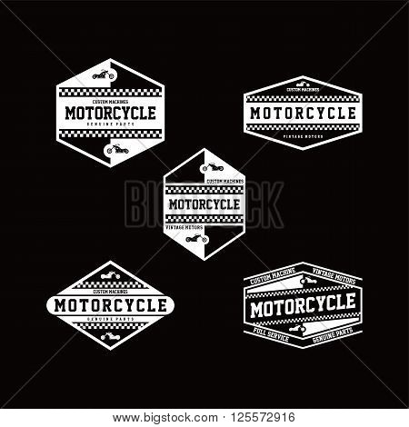 custom motorcycle chopper bike vector art illustration
