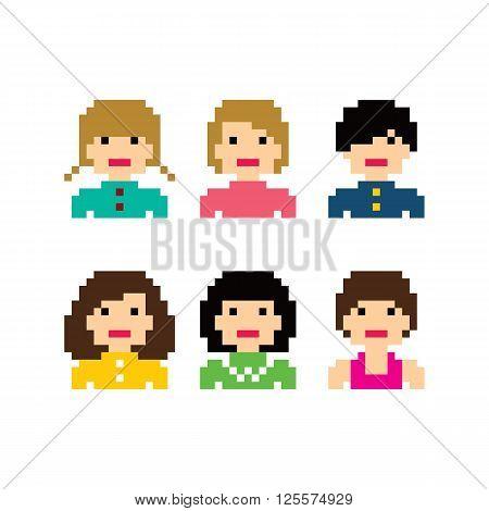 Pixel People Woman Avatar Set
