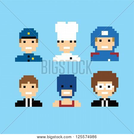 Pixel People Avatar Set