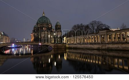 Berlin Cathedral or Berliner Dom is the short name for the Evangelical Supreme Parish and Collegiate Church in Berlin Germany located on Museum Island in the Mitte borough.