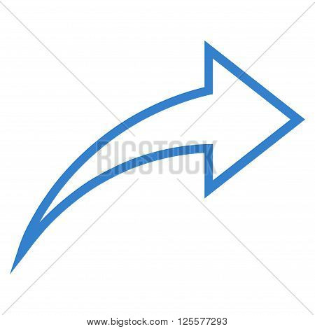 Redo vector icon. Style is stroke icon symbol, cobalt color, white background.