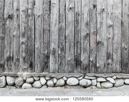 authentic old wooden fence in the background