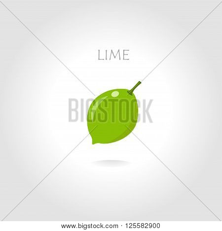 green lime vector illustration with text tittle