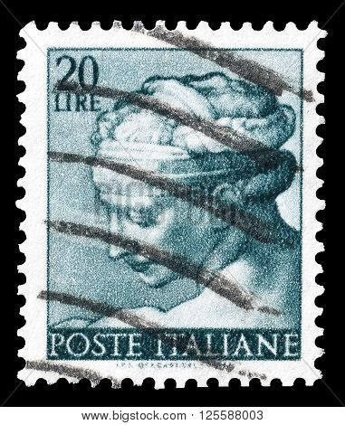 ITALY - CIRCA 1961 : Cancelled postage stamp printed by Italy, that shows Libyan Sybil.