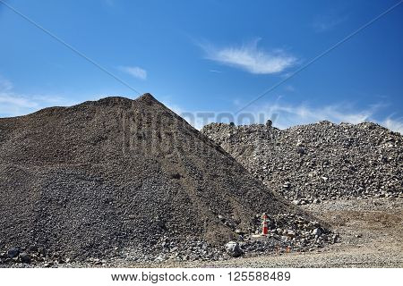 Construction Site Gravel Fill Various Sizes