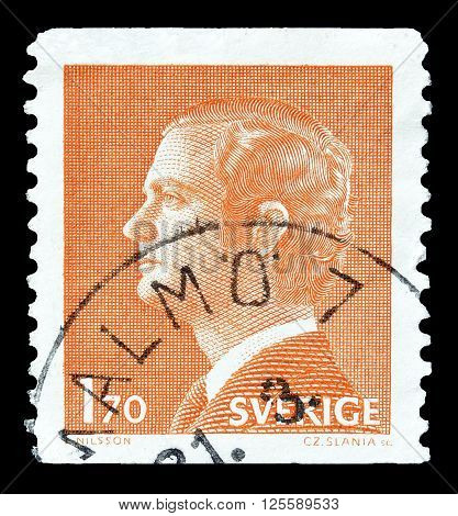 SWEDEN - CIRCA 1978 : Cancelled postage stamp printed by Sweden, that shows king Carl Gustaf.
