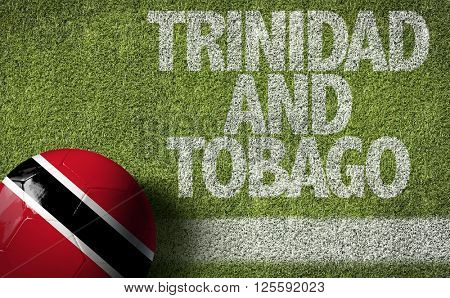 Trinidad and Tobago Ball in a Soccer Field