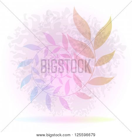Abstract colorful swirl branch background.