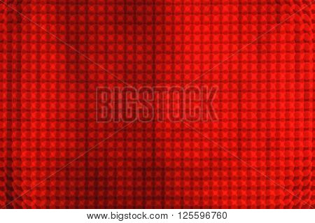 Red abstract background, out of focus LED lights