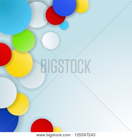 Abstract color circles background with copy space.