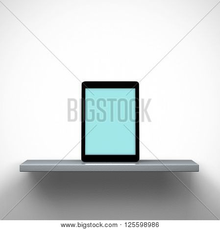 3D rendering - Mockup of digital tablet pc on a shelf. Clipping path for display included.