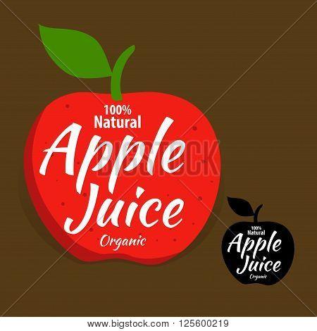 Vector stock of natural organic apple juice logo