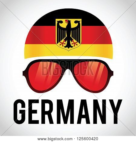 Head band and sunglasses with Germany insignia vector illustration
