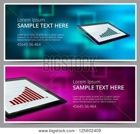 Web banner block. Header template. Creative abstract business cover.