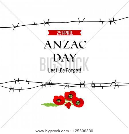 Anzac day background for design banner,ticket, leaflet and so on.Template page.