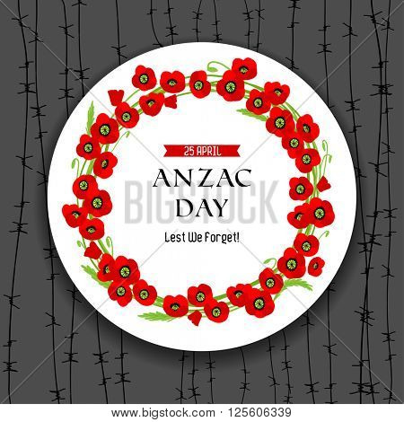 Anzac day dark background for design banner,ticket, leaflet and so on.Template page.