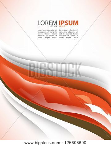 eps10 vector wave concept trendy corporate material background design