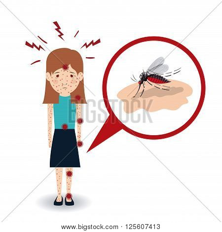 sick from mosquito bite design, vector illustration eps10 graphic