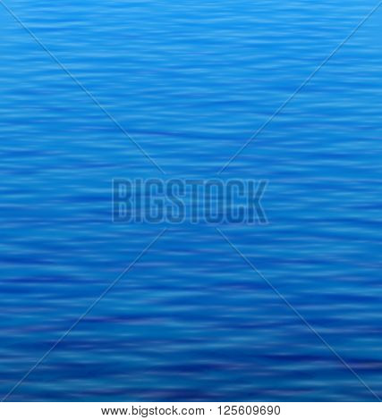 Illustration Abstract Water Background with Ripple. Water Waves Effects. Blue Underworld. Ocean or Sea Surface - Vector