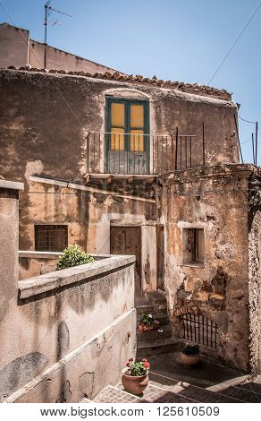 Old street in the South of Italy